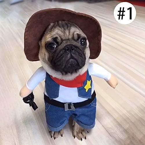 3CLilessaren - Disfraz de Mascota para Perros y Gatos pequeños, tamaño Mediano, 1 Unidad