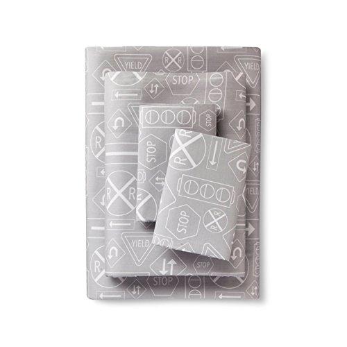 Lolli Living Street Signs Sheet Set,Grey (Full)