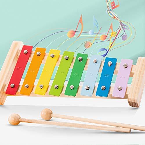 Lihgfw Houten Muziek Piano Hand Children's kloppen op de Piano Percussion Instruments Zuigelingen en Young Children's Educational Percussion Music Toys Kleine Xylofoon Jongens en meisjes 0-4 jaar oud