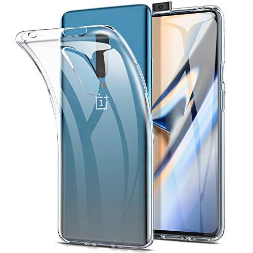 Yocktec Hülle für OnePlus 7 Pro, Ultra-dünne weiche TPU Gel-Abdeckung Transparent Hülle [Kratzfest] [Stoßdämpfung] für OnePlus 7 Pro 2019 Smartphone[Transparent]
