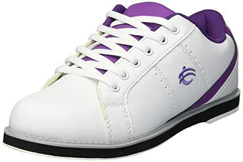 BSI Women's 460 Bowling Shoe, White/Purple, Size 5.5