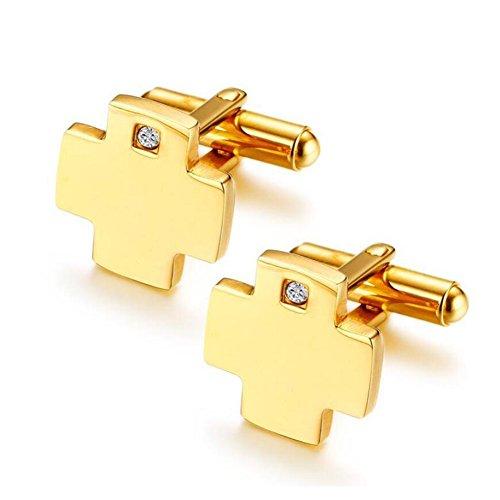 JUMP Manschettenknopf Mode Kreuz Diamant Luxus Persönlichkeit Knopf Manschette Retro Mens Kreative Einfache Hemden Manschettenknöpfe