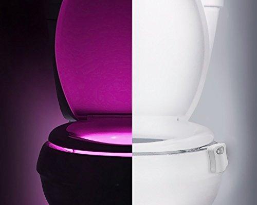 Mouvement Activé Nuit de Toilette, LED 8 Couleurs Changement Intelligent Détection de Lumière Siège de Toilette, Salle de Bain Corps Automatique Capteur Closestool Bol Imperméable Outil D'éclairage