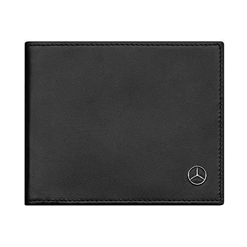Mercedes Benz Original Herren Geldbörse Kalbsleder mit RFID Schutz Schwarz 12,5 x 2 x 10 cm