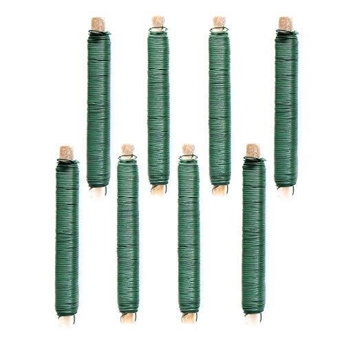 DekoPrinz 8 Rollen 0,7mm Wickeldraht, ca. 18 Meter je Rolle