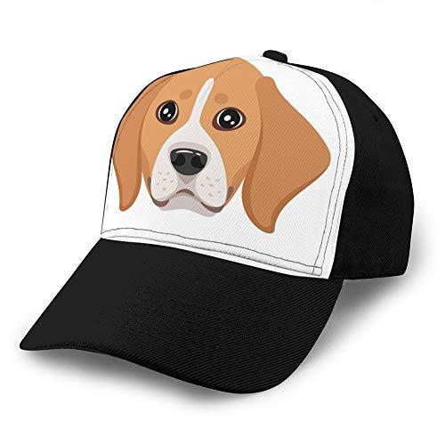 dsgdfhfgjghcdvdf 5 Unisex verstellbare Flache Hut Baseballmützen Hund Haustier Kopf Symbol Golf Hüte