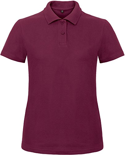 B&C: Ladies` Piqué Polo Shirt ID.001 Women PWI11, Größe:3XL;Farbe:Wine
