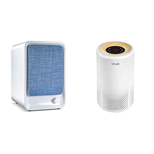 LEVOIT HEPA Air Purifier for Home, Smoke Cleaner w/Dual Activated Carbon Filter for Bedroom Office Dorm & Air Purifiers for Home Allergies and Pets Hair, in Bedroom, Night Light & Timer, Vista 200