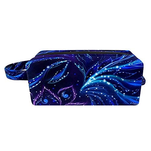 Bolsa de maquillaje portátil de viaje para cosméticos, organizador multifunción con cremallera, bolsa de aseo para mujer, flores