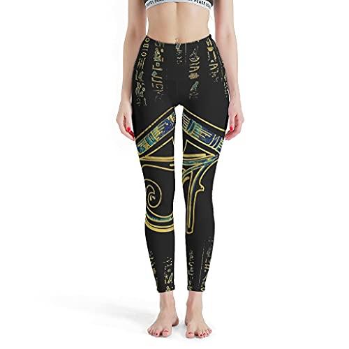 MiKiBi-77 Yogahose Ägyptisches Auge des Horus Stylisch Mode Bequem - Sweatpants für Yoga XS weiß
