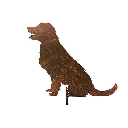 itsisa ® Dekofigur Hund im Rost Design, Labrador Rostfigur für den Garten, Gartendeko, Metalldeko