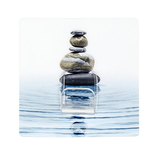 Wenko 50450100 Static-Loc draagtas, meditatie, zonder boren, 8 x 8 x 3,5 cm, kunststof, meerkleurig, 9,5 x 3,5 x 15,5 cm