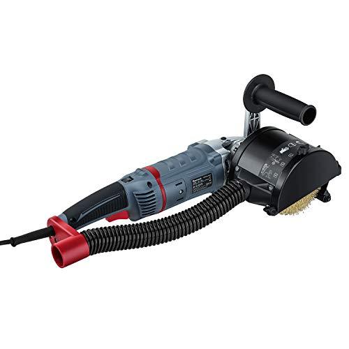 FANZTOOL 1500 Watt Satiniermaschine Schleifmaschine Bürstenschleifgerät zur Renovierung von Oberflächen aller Art, mit Staubsaugung-Anschluss, Drehzahlregelung, Messing Bürste, Tragtasche