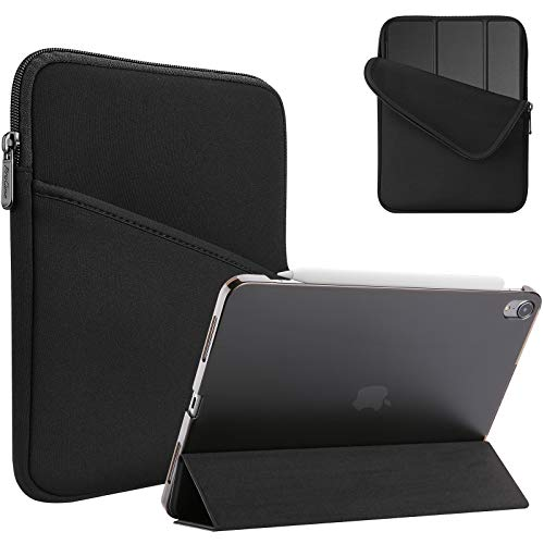 ProHülle Tablet Sleeve Tasche + Schutzhülle für iPad Air 4 Gen 10.9 Zoll 2020, Ultra Dünn Hülle mit Transluzent Rück & Polyester Tragtasche -Schwarz