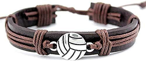 Armband Halloween Armband Feld Eishockeyspieler Fußball Fußball Softball Volleyball Lacrosse Gymnastik Tennis Charme Leder Armbänder Frauen Männer Schmuck Männer Frauen Armband Armreif