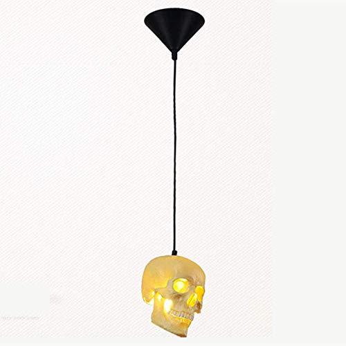 HJW Cráneo Colgante Luz Nordic Creative Techo Colgante Lámpara E27 Hierro Resina Pantalla Lámpara de Araña Altura Ajustable Comedor Ropa Tienda Pasillo Corredor Entrada Café Colgando Luz