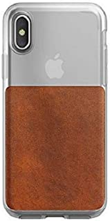 NOMAD Clear Case for iPhone X/XS Rustic Brown Horween Leather