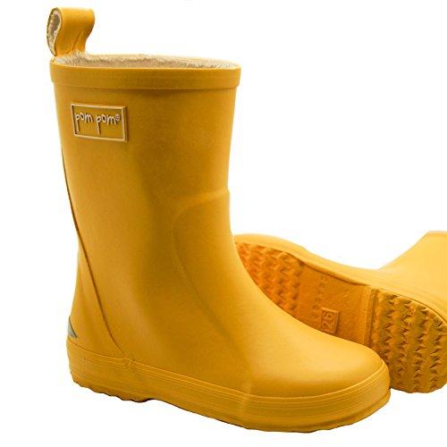 pom pom Gummiboots Kinder Gummistiefel 32 EU Gelb (Yellow)