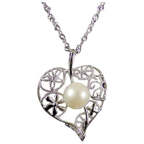 Sarah Jane Pearl Halskette Sterling Silver Wedding (e3030nw)