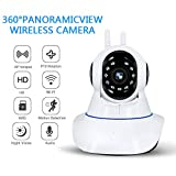 WXJHA Caméra de sécurité extérieure 1080P Caméra IP sans Fil WiFi Accueil Night Vision CCTV Caméra Babyphone caméra extérieure