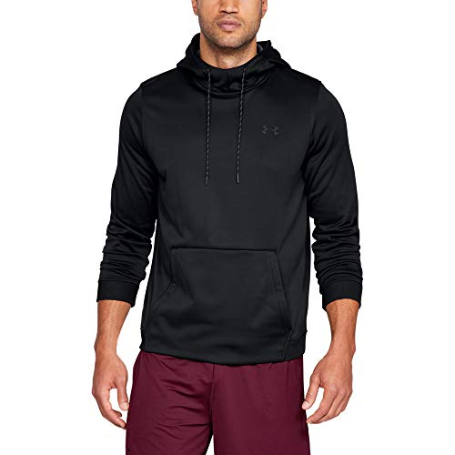Under Armour Herren Kapuzenpullover Armour Fleece Po Hoodie, Schwarz, Medium