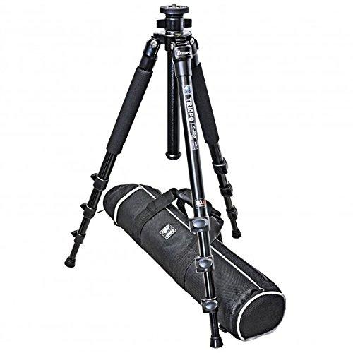 Impulsfoto Dreibein Reisestativ Kamerastativ ALU & Titan (Hoehe: 150 cm, Gewicht: 1.4 kg, Belastbarkeit: 7 kg) schwarz | Stativ Triopo C-258 mit Wasserwaage & Reisetasche