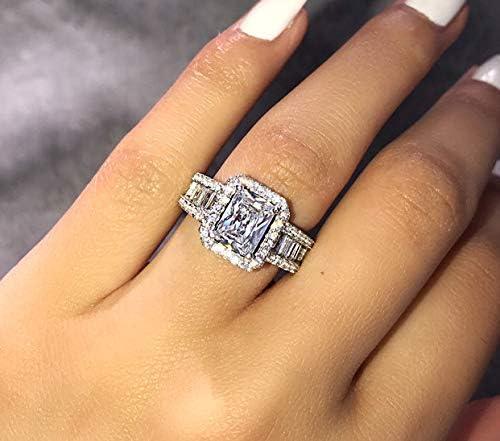 6 carat emerald cut diamond ring _image4