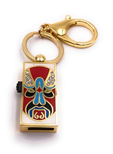 Onlineworld2013 masker box kruiger goud kleurrijke glitter strass funny USB-stick diverse maten 64 GB USB 2.0