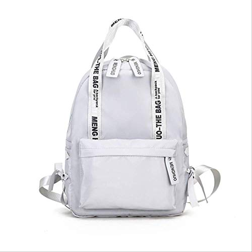 Sporttas voor dames met grote inhoud, voor school, Preppy, voor tieners, van nylon, voor dames en meisjes, L28 cm, L12 cm, H39 cm, grijs