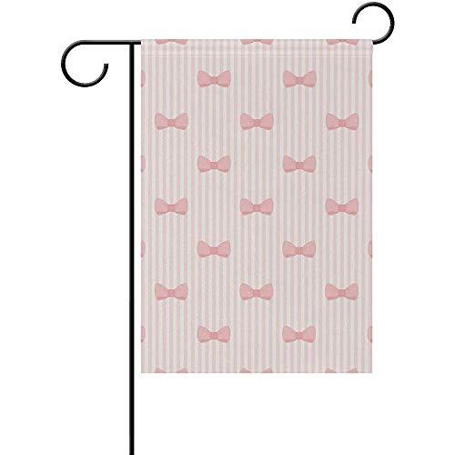 Not Applicable Bandera Linda de la Yarda del jardín casero de los Arcos y de Las Rayas - Bandera Decorativa al Aire Libre de Doble Cara 12.5x18 Pulgadas