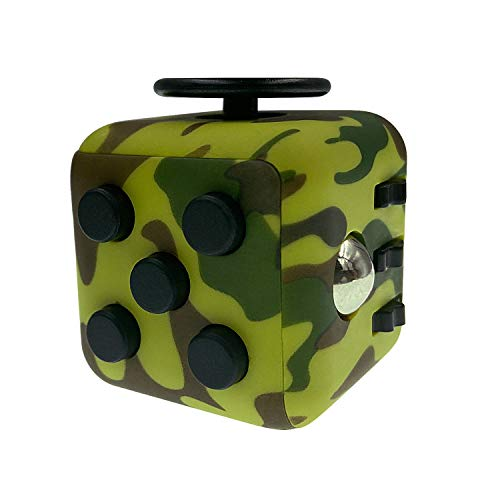 HELLOLAND Fidget Cube Toy Relieves Stress and Anxiety Toy (Camo-Green)