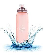3SIXX5 Drinkfles [BPA-vrij Tritan] 900 ml lekvrije waterfles voor universiteit, sport, fitness, fiets, outdoor, kantoor - grote opening en schaal