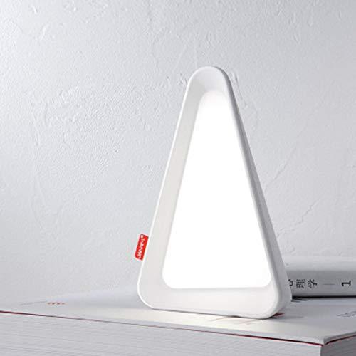 JminJC Lámpara De Mesa Abatible Detección De Gravedad Recargable USB La Protección Suave De Los Ojos Puede Ajustar El Ambiente De Brillo,White