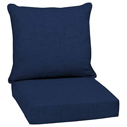 Overstock Arden Selections Sapphire Leala Texture Outdoor Deep Seat Set