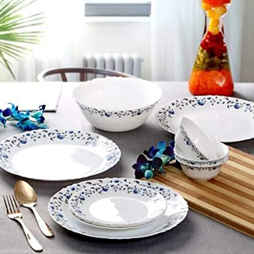 DK HOME APPLIANCES Presents 12 Pieces Dinner Set 4 Spoon 4 Dish 4 Bowl Multicolor