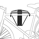 Relaxdays Soporte plegable para bicicleta, color negro