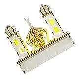 NUOBESTY Eid Mubarak Light DIY Ramadan Wood Lamp LED Decorative Table Desk Night Light Muslim Islam Home Decoration Ornament Without Battery