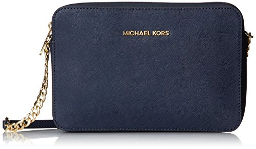 Michael Kors Womens Jet Set Crossbody bag, navy, large