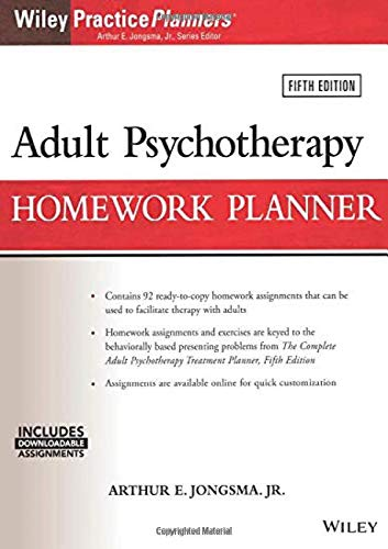 Adult Psychotherapy Homework Planner (PracticePlanners)