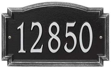 Whitehall Barcelos Max 46% OFF Personalized Cast excellence Custom Plaque Metal Address