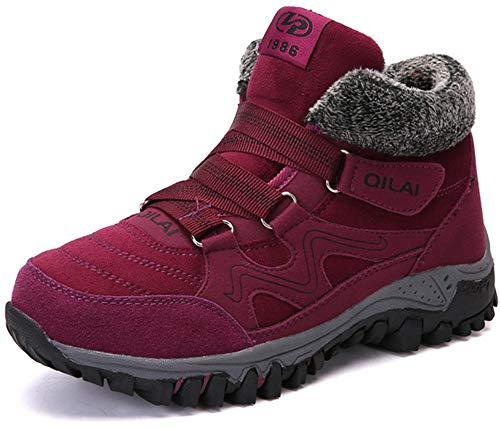 Maogo winterlaarzen, dames, warm gevoerde sneeuwlaarzen, trekkingschoenen, dames, wandelschoenen, antislip schoenen