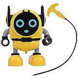 Naroote Robot Gyro,Robot Gyro Game Toy Juguetes educativos para ni?os, Ni?os Mini Robot Gyro DIY Juguete de Inteligencia de Robot inercial Desmontable para Regalo de ni?os(Amarillo)