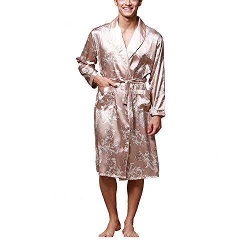 HANGYIKJ Long Sleeve Pyjamas Herren Bademantel Long Home Service