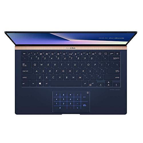 ASUS ZenBook 14 UX433FN (90NB0JQ2-M04820) 35,5 cm (14 Zoll, FHD, WV) Ultrabook (Intel Core i7-8565U, 16GB RAM, 512GB SSD, NVIDIA GeForce MX150 (2GB), Windows 10) Royal Blau