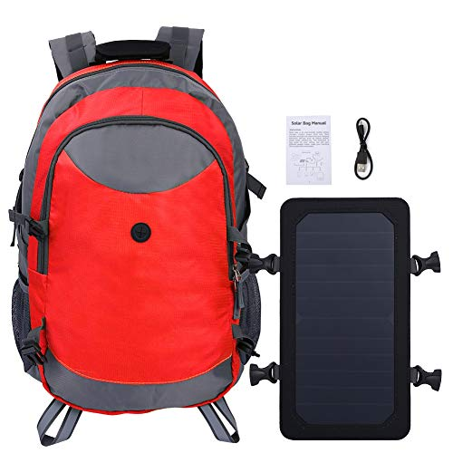 LIUTT Outdoor Unisex Solar Charge Travel Carry-on Backpack Shoulder Bag For Cycling Hiking Camping(red)