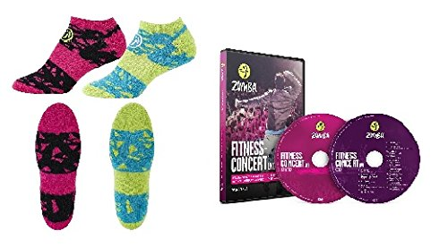 Fitness-Concert Live Zumba DVD+CD Set+ 2 Paar Zumba Socken