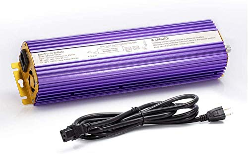 TOPHORT 600 Watts Digital Dimmable Electronic Ballast for HPS MH Grow Light Bulb Lamp (600W, Purple)