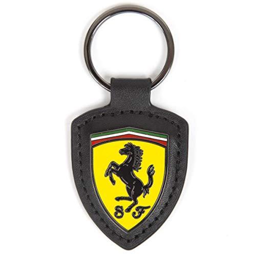 Ferrari 2018 - Llavero de Piel con Logotipo de Scuderia (Incluye Caja de Regalo)