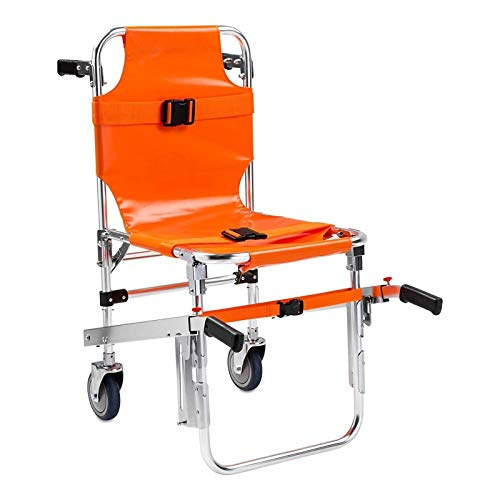 PoJu Silla de Escalera de aleación de Aluminio EMS - Silla de Escalera de elevación médica de evacuación de Bombero de Ambulancia con Hebillas de liberación rápid