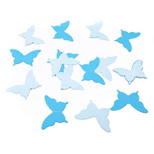 Weisin - Guirnalda de Mariposas para Colgar en Papel 3D, decoración para Fiestas de Bodas, Baby Shower, Origami, Azul, As Description